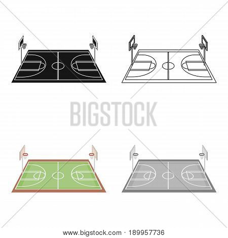Basketball court.Basketball single icon in cartoon style vector symbol stock illustration .