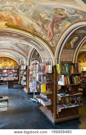 Vilnius, Lithuania - May, 11 2017:  Bookstore