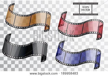 Realistic Film. Vector Illustration