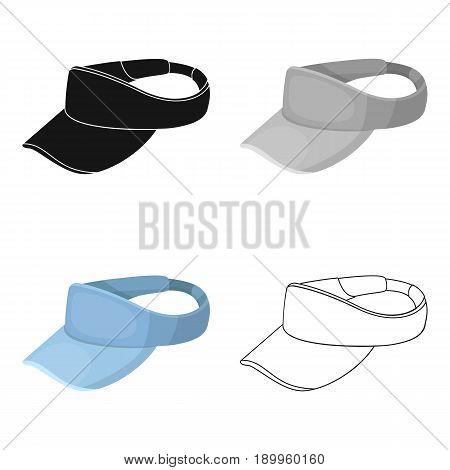 Golfer's headdrGolfer's headdressess.Golf club single icon in cartoon style vector symbol stock illustration .