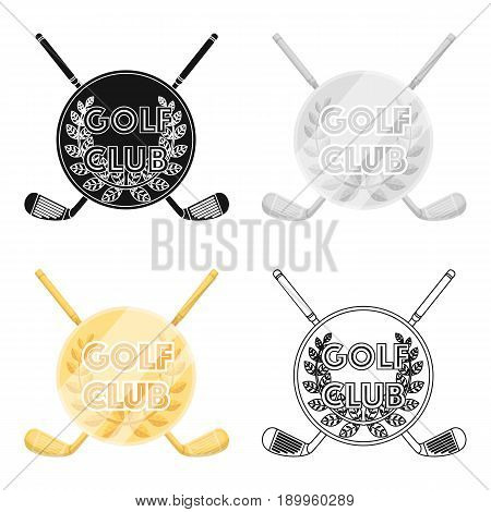 Emblem of the golf club.Golf club single icon in cartoon style vector symbol stock illustration .