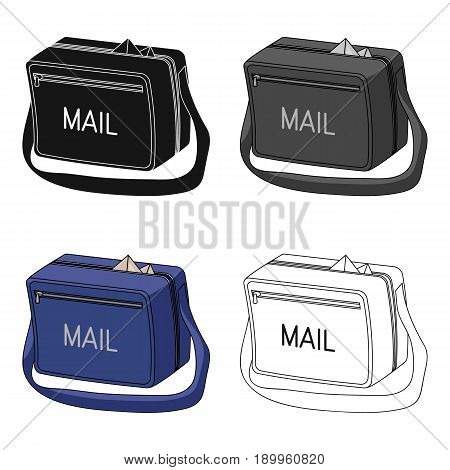 Postal bag.Mail and postman single icon in cartoon style vector symbol stock illustration .