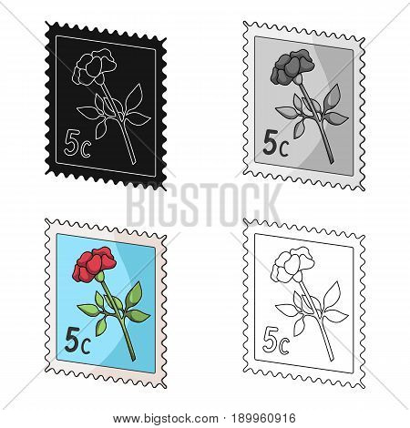 Postage Stamp.Mail and postman single icon in cartoon style vector symbol stock illustration .