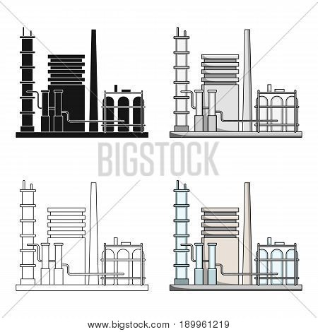 Refinery.Oil single icon in cartoon style vector symbol stock illustration .
