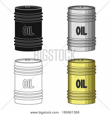 Barrel of oil.Oil single icon in cartoon style vector symbol stock illustration .