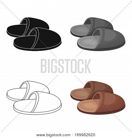 Slippers.Old age single icon in cartoon style vector symbol stock illustration .