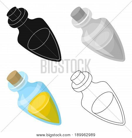 Vessel with olive oil.Olives single icon in cartoon style vector symbol stock illustration .