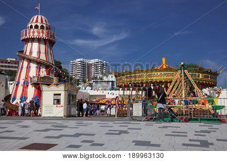 BOURNEMOUTH, UK - 31st MAY, 2017: Bournemouth fairground