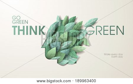 Nature web banner concept design. Vector illustration on the theme of ecology, environment, natural products, natural and healthy life.