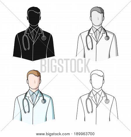Doctor.Professions single icon in cartoon style vector symbol stock illustration .