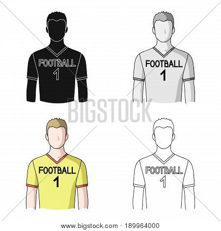 Footballer.Professions single icon in cartoon style vector symbol stock illustration .