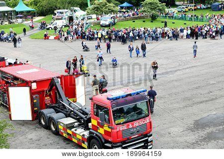 Beaulieu, Hampshire, Uk - May 29 2017: Visitors And Emergency Vehicles At The 2017 999 Day At The Na