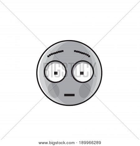 Sad Cartoon Face Shocked Negative People Emotion Icon Vector Illustration