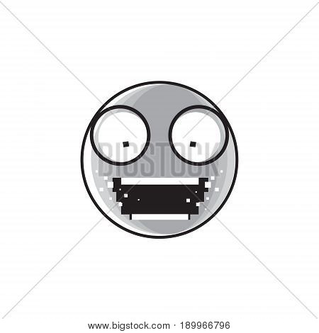 Sad Cartoon Face Shocked Screaming Negative People Emotion Icon Vector Illustration