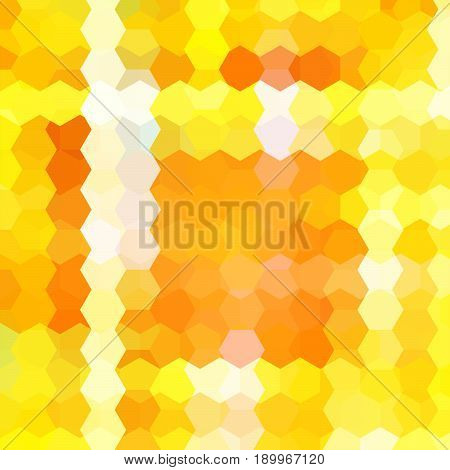 Abstract Yellow, Orange, White Hexagons Vector Background. Geometric Vector Illustration. Creative D