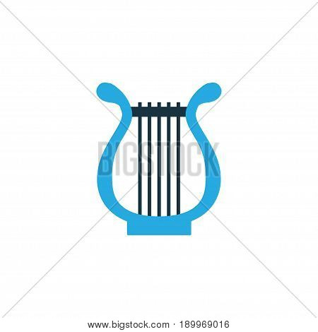 Lyre Colorful Icon Symbol. Premium Quality Isolated Harp Element In Trendy Style.