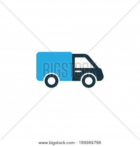 Truck Colorful Icon Symbol. Premium Quality Isolated Lorry Element In Trendy Style.