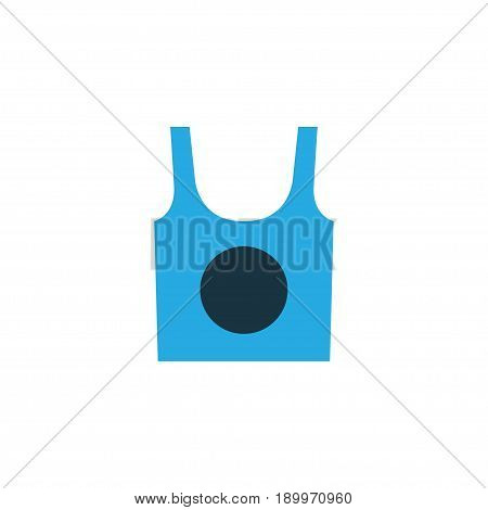 Singlet Colorful Icon Symbol. Premium Quality Isolated Underwear Element In Trendy Style.