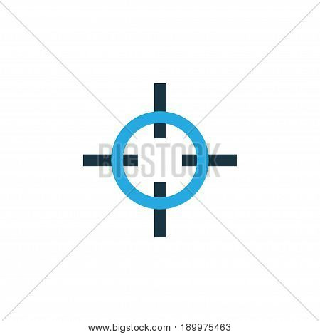 Sniper Target Colorful Icon Symbol. Premium Quality Isolated Aim Element In Trendy Style.