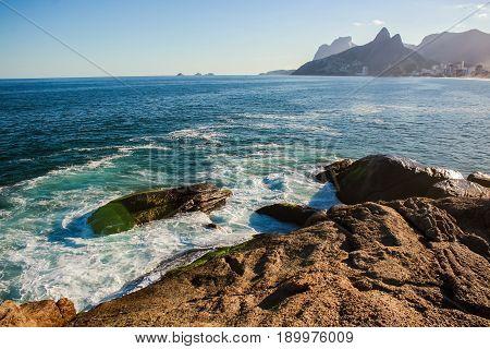 Brazil Rio de Janeiro Arpoador Ipanema Sea