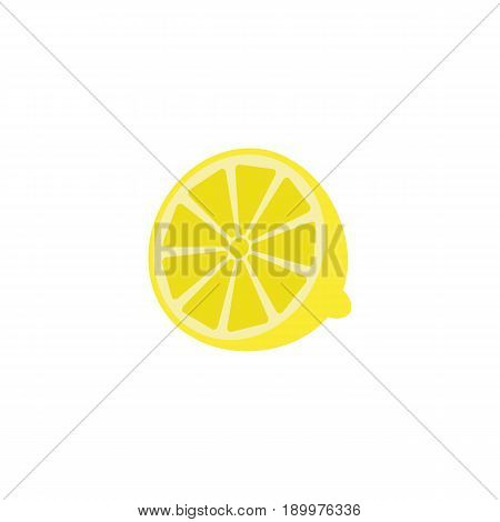 Lemon solid line icon, healthy fruit, vector graphics, a colorful linear pattern on a white background, eps 10.