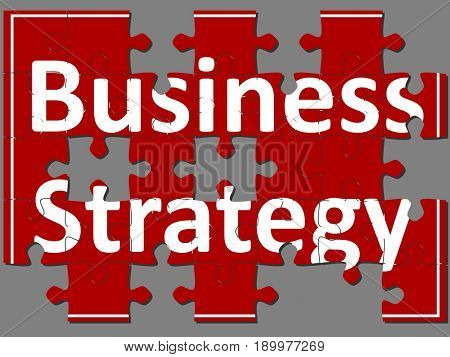 Business strategy in jigsaw puzzle
