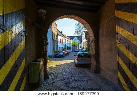Historic Town Gate In Bedburg-kaster, Germany