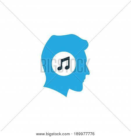 Meloman Colorful Icon Symbol. Premium Quality Isolated Music Lover Element In Trendy Style.