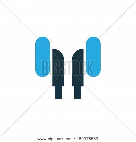 Earphone Colorful Icon Symbol. Premium Quality Isolated Headphone Element In Trendy Style.