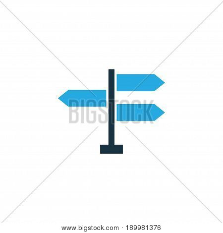 Direction Colorful Icon Symbol. Premium Quality Isolated Signpost Element In Trendy Style.