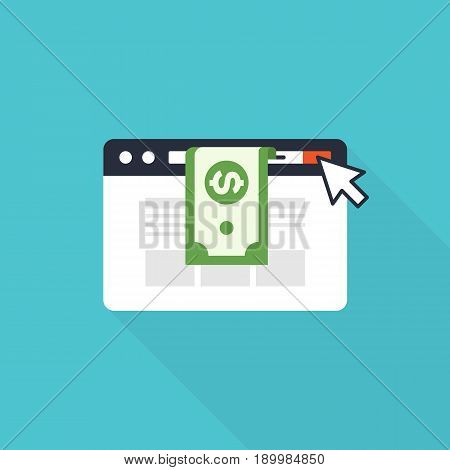Pay Per Click modern internet advertising concept vector illustration