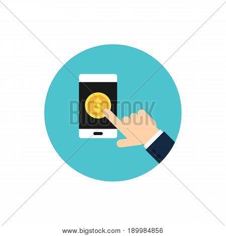 Pay Per Click modern internet advertising concept vector illustration