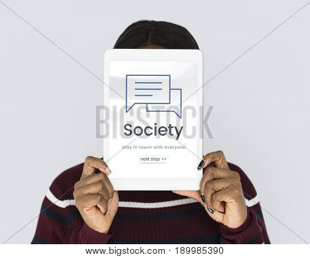 Society Stay in Touch Communication Concept
