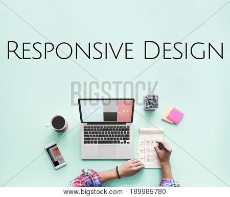 Responsive Web Design Graphic Word