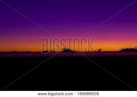 Sun Rising in outback Australia, creating beautiful colour.