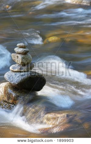 Little Watercourses With Rocks