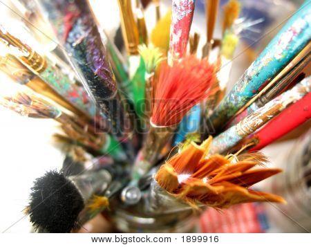 Well Worn Artist Brushes