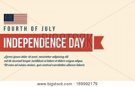 Vector flat independence day background collection stock