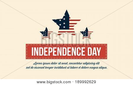 Independence day background vector flat collection stock