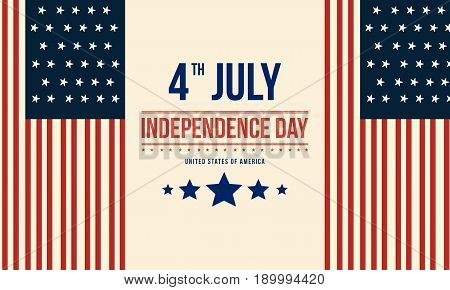 Collection stock of independence day vector flat background