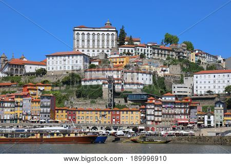 Old Porto city at sunny summer day Portugal