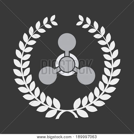 Isolated Laurel Wreath With A Chemical Weapon Sign