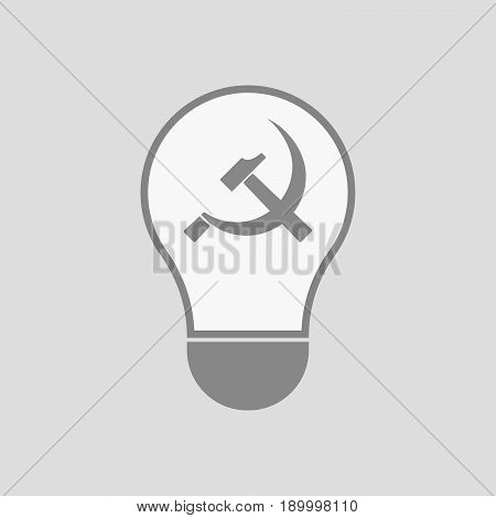 Isolated Light Bulb With  The Communist Symbol