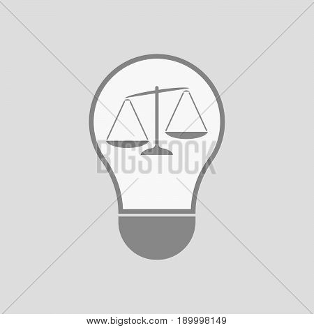 Isolated Light Bulb With  An Unbalanced Weight Scale