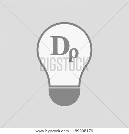 Isolated Light Bulb With A Drachma Currency Sign
