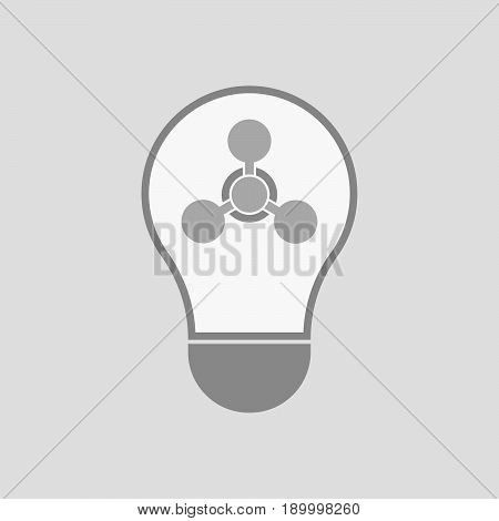Isolated Light Bulb With A Chemical Weapon Sign