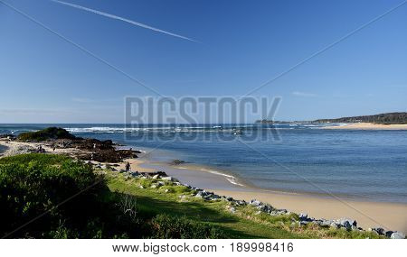 Beach at the Tuross Head. Tuross Head is a seaside village on the south coast of New South Wales Australia.