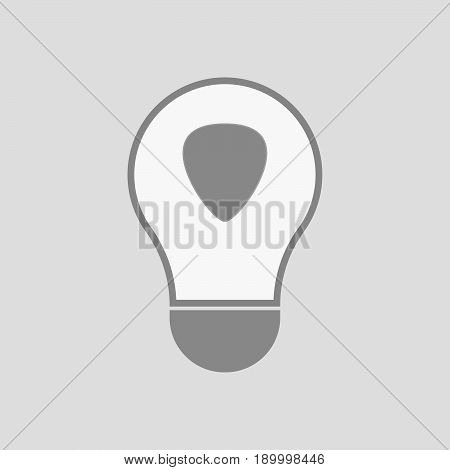 Isolated Light Bulb With A Plectrum