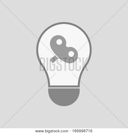 Isolated Light Bulb With A Toy Crank