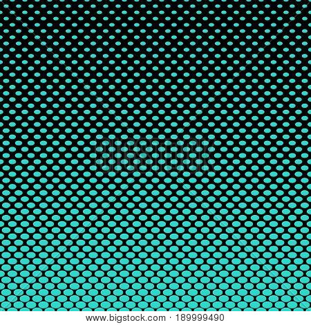 Cyan and black ellipse pattern halftone background - abstract vector illustration